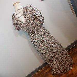 Long Maxi dress with abtract pattern med